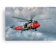 Royal Navy Search and Rescue Sea King Helicopter Canvas Print