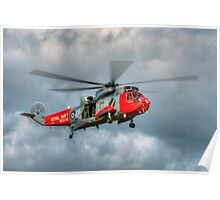 Royal Navy Search and Rescue Sea King Helicopter Poster