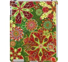 Christmas Holiday Floral Kaleidoscope 6 iPad Case/Skin