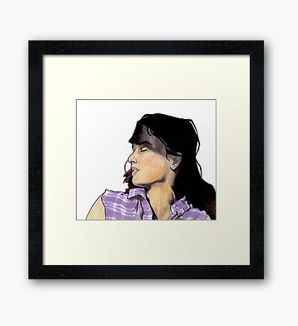 Lori Walking Dead Framed Print