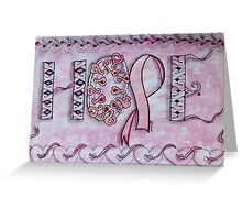 Hope (Breast Cancer Awareness) Greeting Card