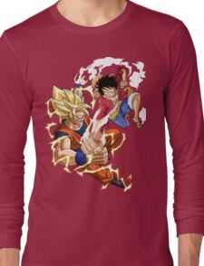 Goku VS Luffy Long Sleeve T-Shirt