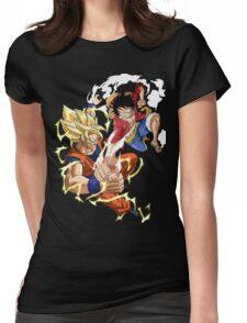 Goku VS Luffy Womens Fitted T-Shirt