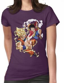 Goku VS Luffy Womens Fitted T-Shirt