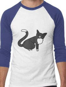 Angry Tuxedo Kitty Men's Baseball ¾ T-Shirt