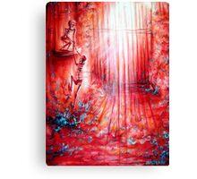 Red Skeleton Gate Canvas Print
