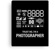 Photographer Camera Photography Gift Present Funny Canvas Print