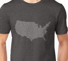 America Constitution Shape Map Unisex T-Shirt