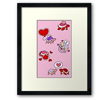 Valentines Day Turtles Framed Print