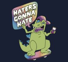 """Haters Gonna Hate"" Reptar (white) Kids Tee"