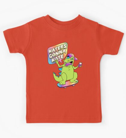 """""""Haters Gonna Hate"""" Reptar (white) Kids Tee"""