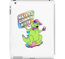 """""""Haters Gonna Hate"""" Reptar (white) iPad Case/Skin"""