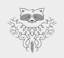 Ornate Raccoon Pattern by Blake Stevenson