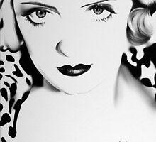 Bette Davis Minimal Portrait by IleanaHunterArt