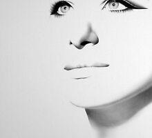 Barbra Streisand Minimal Portrait by IleanaHunterArt