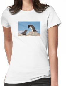 "Adelie Penguin and Chick ~ ""Well......if you say so dad"" Womens Fitted T-Shirt"