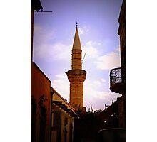 Turkish Minaret in Limassol Photographic Print