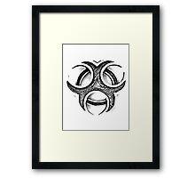 Biohazard Symbol. Zombie Apocalypse. Biohazard Circles. Nuclear Waste. Hazardous Materials. Danger Zone. Framed Print