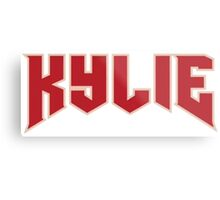 KYLIE Logo Metal Print