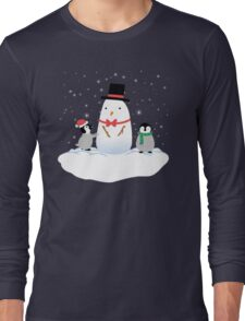 Snow Penguins Long Sleeve T-Shirt