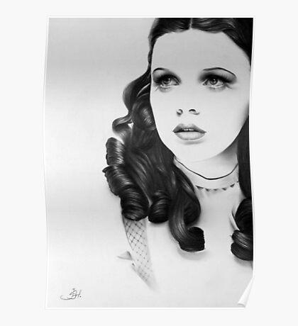 Judy Garland Minimal Portrait Poster