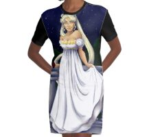 Princess Serenity Graphic T-Shirt Dress