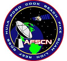 Air Force Satellite Control Network (AFSCN) Logo Photographic Print