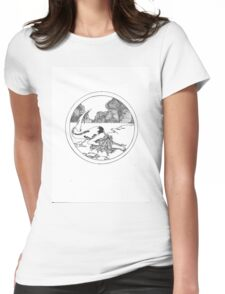 mermaid- ink Womens Fitted T-Shirt