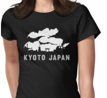 Kyoto Japan Skyline Cityscape Womens Fitted T-Shirt