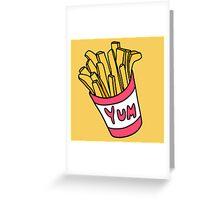 Box of Fries  Greeting Card