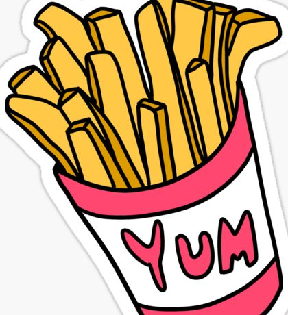 Box of Fries  Sticker