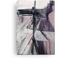 Bus Stop & Crossing Canvas Print