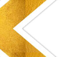 Arrow in Bold Gold Sticker