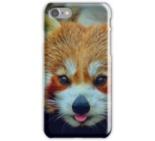 Red Panda with border iPhone Case/Skin