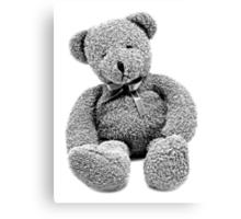Cuddly Teddy Bear. Vintage Teddy Bear. Antique Teddy Bear. Teddy Bear Engraving. Canvas Print