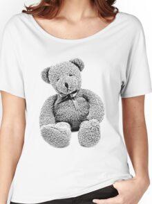 Cuddly Teddy Bear. Vintage Teddy Bear. Antique Teddy Bear. Teddy Bear Engraving. Women's Relaxed Fit T-Shirt