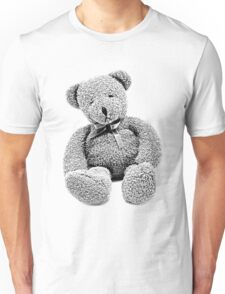 Cuddly Teddy Bear. Vintage Teddy Bear. Antique Teddy Bear. Teddy Bear Engraving. Unisex T-Shirt