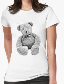 Cuddly Teddy Bear. Vintage Teddy Bear. Antique Teddy Bear. Teddy Bear Engraving. Womens Fitted T-Shirt