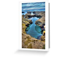 """""""Hour Glass"""",Point Roadknight,Anglesea,Great Ocean Road,Australia. Greeting Card"""