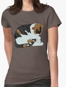 Cozy Calico Womens Fitted T-Shirt