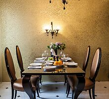 table setting awaits the guests by mrivserg
