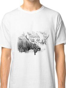 Bull Moose. Wildlife Moose. Moose Antlers. Canadian Moose. Alaskan Moose. Classic T-Shirt