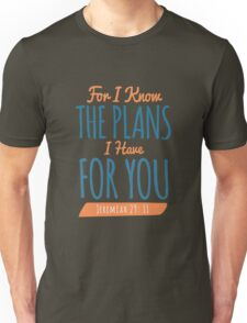 Jeremiah 29:11 - Bible Verse T-shirts Unisex T-Shirt
