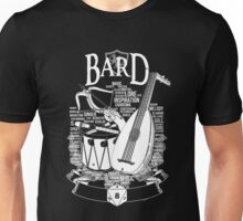 RPG Class Series: Bard - White Version Unisex T-Shirt