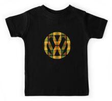Yellow Green Orange Plaid Vintage Volkswagen Westfalia Pattern Kids Tee