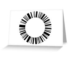 Analogue - Black Greeting Card