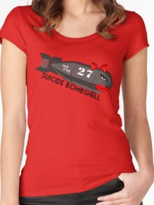 Suicide Bombshell #27 Dub City Women's Fitted Scoop T-Shirt