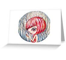 Snowy Vampire Greeting Card