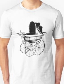 Antique Baby Carriage. Antique Baby Stroller. Vintage Baby Carriage. Old Fashioned Baby Gifts. Unisex T-Shirt