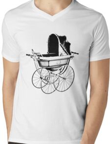 Antique Baby Carriage. Antique Baby Stroller. Vintage Baby Carriage. Old Fashioned Baby Gifts. Mens V-Neck T-Shirt